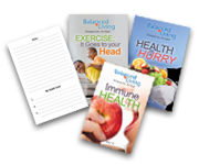 Balanced Living Health Tracts - 5.5 x 8.5- 50 ea