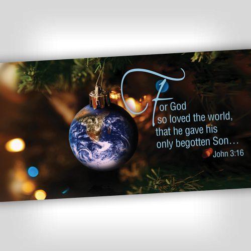 GodLovedWorld 4x8 Banner