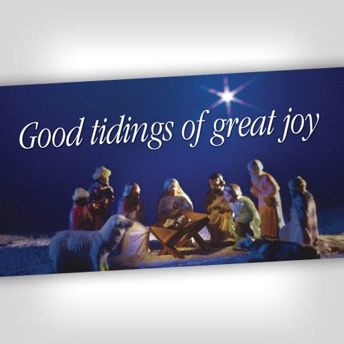 Good Tidings 4x8 Banner